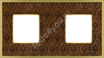 FD01442DBOB- Fede Belle Epoque Tapestry Рамка 2-ная, Decorbrass-Bright Gold