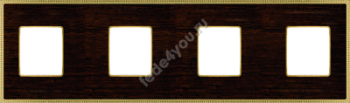 FD01454WOB- Fede Belle Epoque Wood Рамка 4-ная, Wenge-Bright Gold