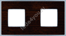 FD01452WCB- Fede Belle Epoque Wood Рамка 2-ная, Wenge-Bright Chrome