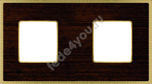 FD01452WOB- Fede Belle Epoque Wood Рамка 2-ная, Wenge-Bright Gold
