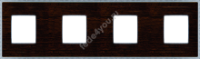 FD01454WCB- Fede Belle Epoque Wood Рамка 4-ная, Wenge-Bright Chrome