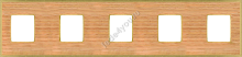 FD01455OOB- Fede Belle Epoque Wood Рамка 5-ная, Oak-Bright Gold